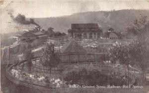 E70/ Chester W Va Postcard Rock Springs Amusement Park c1910 Roller Coaster 3