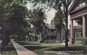 Queen's avenue , Looking West , LONDON, Ontario , Canada , PU-1907