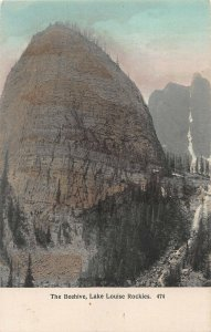 The Beehive, Lake Louise, Canadian Rockies, Canada, Early Hand Colored Postcard