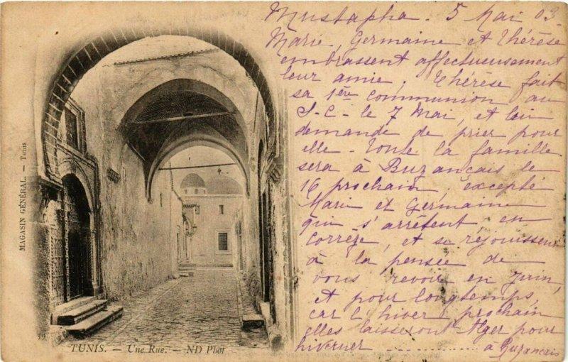 CPA AK TUNISIE TUNIS - Une Rue (239495)