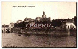 Old Postcard Chalon Sur Saone L Hopital