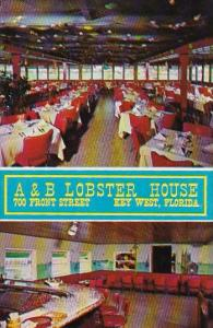 Interior A & B Lobster House 700 Front Street Key West Florida 1968