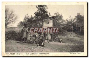 Old Postcard War On The villa Front Fend Bise Army