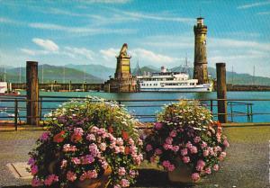 Germany Lindau am Bodensee Hafeneinfahrt