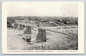 Keosauqua Iowa~Des Moines River Bridge~Camelback~City Skyline~Water Tower~c1910