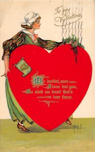 Damaged Valentines Day Postcard 1908
