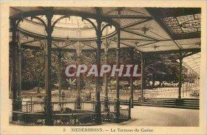 Old Postcard Niederbronn La Terrasse du Casino