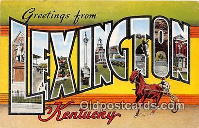 Horse Racing Postcard Post Card Lexington, KY, USA Horse Racing Postcard Post...