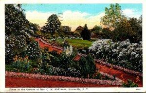 South Carolina Hartsville Scene In The Garden Of Mrs C M McKinnon1942 Curteich