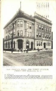Peoples Bank And Police Station Jersey City Heights NJ 1905
