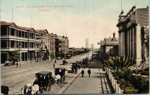 Adelaide Australia North Terrace from King William Street Postcard E73