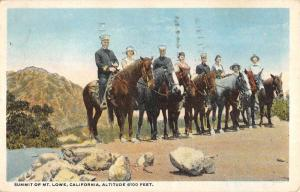 Mt Lowe California Horse Riding On Summit Antique Postcard K93095