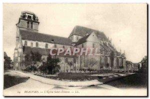 Beauvais Old Postcard L & # 39eglise Saint Etienne
