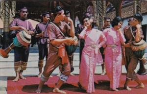 Thailand Bangkok Thai Drum Dance At National Museum
