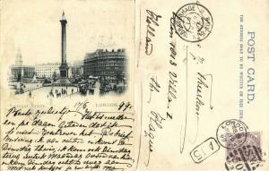 united kingdom, LONDON, Trafalgar Square (1899) Court Card, Stamp