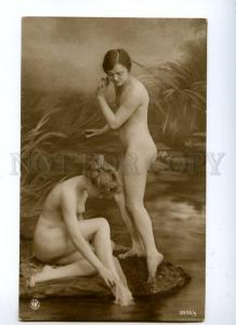129073 NUDE Women NYMPH near Water Vintage PHOTO NPG #3955 PC
