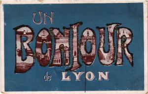 CPA Un Bonjour de LYON (442375)