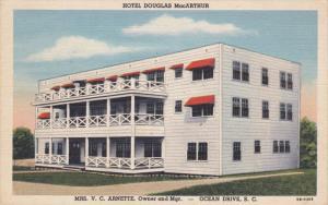 OCEAN DRIVE, South Carolina; Hotel Douglas MacArthur, 30-40s