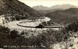mexico, LAREDO, N.L., Cuesta de Mamulique (1940s) RPPC