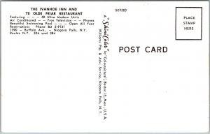 Niagara Falls, New York Postcard THE IVANHOE INN Restaurant Roadside c1960s