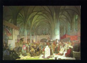 208444 CZECH Alfons Mucha John huss preaching Bethlehem Chapel