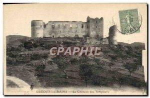 Old Postcard Greoux Les Bains Le Chateau Des Templiers