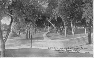 Cedar Falls Iowa~Path Split 3 Ways~UNI Campus From Auditorium 1912 CU Williams