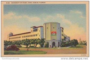 University Of Miami Coraal Gables Florida Curteich