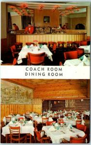 Chicago IL Postcard Tom Brown's COACH LIGHT RESTAURANT 5200 Lincoln Ave. 1960