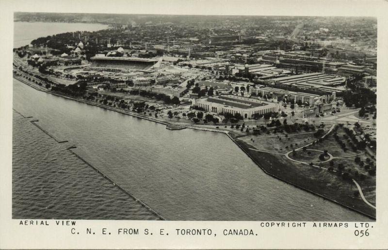 canada, TORONTO, Ontario, Aerial View (1950s) RPPC