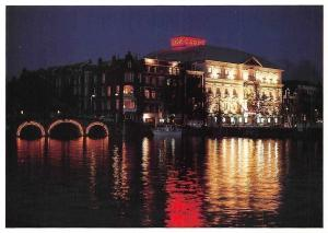 Netherlands Amsterdam Carre Night view Bridge Pont Carre