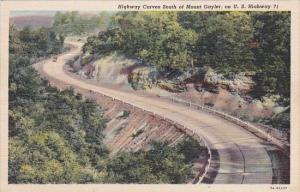 Arkansas Mount Gayler Highway Curves South Of Mount Gayler On U S Highway 71