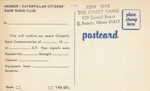 PEORIA, IL, 40-60s; Caterpillar Citizens' Band Radio Club