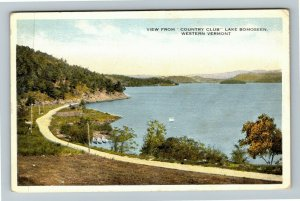 Lake Bomoseen VT-Vermont, View From Country Club, Vintage c1915 Postcard