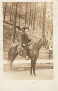 RP: HOT SPRINGS, Arkansas, 00-10s ; Man on Horse