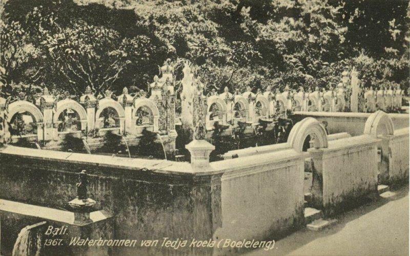 indonesia, BALI BULELENG, Source of Pura Tedja Kula (1910s) Postcard