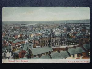 Wales SWANSEA Panoramic City View c1906 Postcard by Misch & Stock 53714