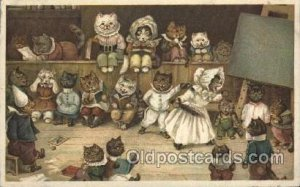 T.S.N. Sereis 1899 No. 1 Artist Signed Louis Wain Cats Unused light wear left...