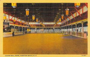 Hampton Beach New Hampshire~Casino Ball Room~1949 Linen