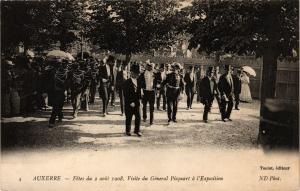 CPA AUXERRE - Fetes du 2 aout 1908 Visite du General Picquart a (357377)
