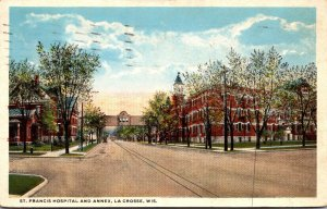 Wisconsin La Crosse St Francis Hospital and Annex 1919 Curteich