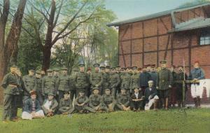 Kriegsgefangen (POWs) Englander mit Dolmretscher , War 1914-18
