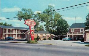 HOLLOMON'S MOTEL - MURFREESBORO, NC US HIGHWAY 158 258 POSTCARD OLD CARS