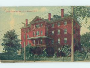 Divided-Back BUILDING Providence Rhode Island RI ho2909