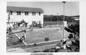 Guantanamo Bay Swimming Pool Real Photo Postcard