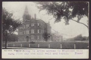 High School,Webster City,IA Postcard