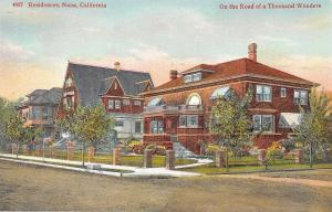 Napa California~Nice Homes On Dirt Road~On The Road Of A Thousand Wonders~1910