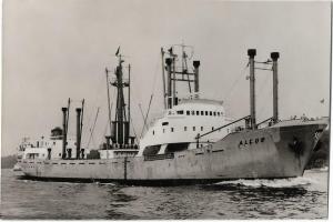 m.s. Alcor Ship Nautica Real Photo Postcard 01.21