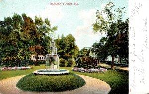 Maine Togus Garden Scene 1906