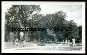1425 - COATICOOK Quebec 1950 Chartier Park's Fountain. Real Photo Postcard